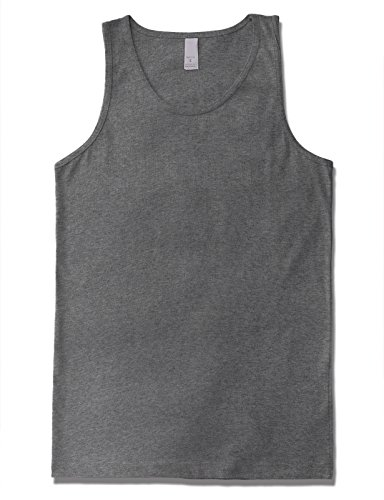 JD Apparel Men's Premium Basic Solid Tank Top Jersey Casual Shirts L H ()