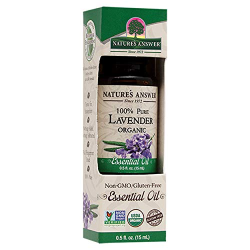 Natures Answer 100% Pure Organic Essential Oil, Lavender, 0.50 oz