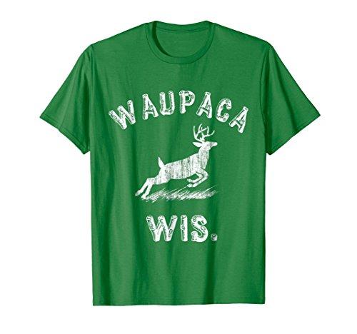 Mens Waupaca Wis Deer T Shirt Large Kelly Green