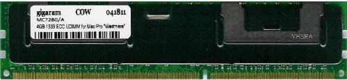 Gigaram 4GB (1x4GB) DDR3-1333 ECC DIMM for Apple Mac Pro 12-Core 2.93Ghz Intel Xeon ''Westmere'' Heat Sink (Apple# 1 x MC728G/A) by Gigaram