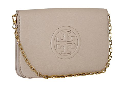 CONVERTIBLE BOMBE LEATHER TORY CLUTCH BURCH OAK LIGHT wqHttvE