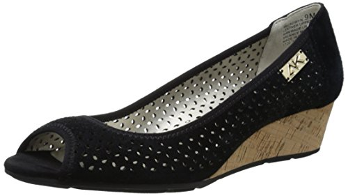 Anne Klein AK Sport Women's Cadwyn Wedge Pump, Black, 8 M (Klein Womens Wedge Shoes)