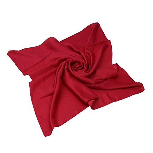 - Elegant Large Silk Feel Solid Color Satin Square Scarf Wrap 36