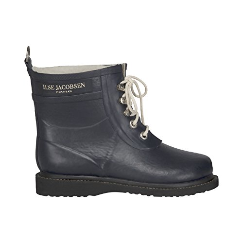 ILSE JACOBSEN Womens Ankle Rubber Boot, Dark Indigo, 36 by ILSE JACOBSEN