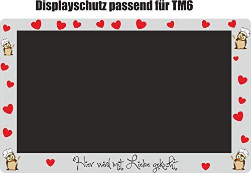 Protector de pantalla para TM6, diseño de búho, color rojo