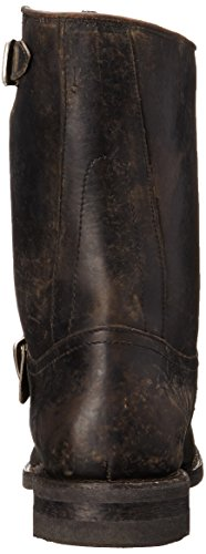 Frye Mens Stone Engineer Boot Nero Lucido Stonewash