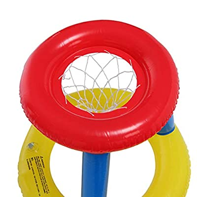 Inflatable Water Basketball Stand Best Sports in The Pool for Children and Adult: Toys & Games