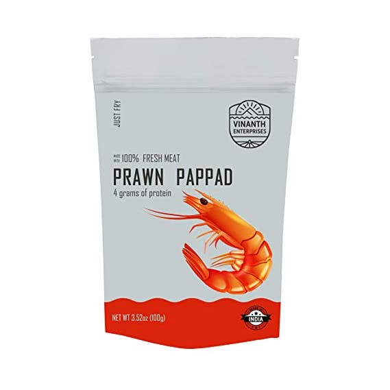 Vinanth Enterprises Fresh Prawn Papad, 100g