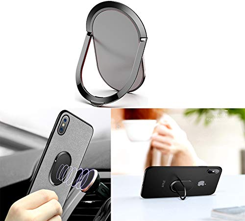 (1.8MM Super Thin Phone Ring Holder 360 Degree Rotation Finger Kickstand Metal Ring Grip for Magnetic Car Mount Compatible with All Smartphone (Silver))