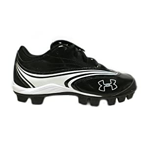 Under Armour Womens Glyde IV Rubber Softball Cleats Black/White Size 6.5