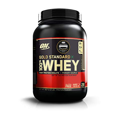 Optimum Nutrition (ON) Gold Standard 100% Whey Protein Powder – 2 lbs, 907 g (Extreme Milk Chocolate), Primary Source…