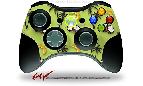 XBOX 360 Wireless Controller Decal Style Skin - Coconuts Palm Trees and Bananas Sage Green (CONTROLLER NOT INCLUDED)