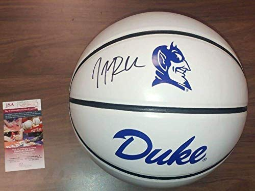 Duke Blue Devils JJ Redick Autographed White Panel Basketball - JSA Authenticated ()