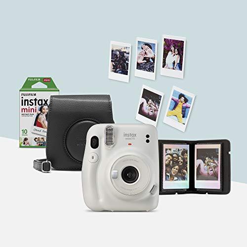 Instax Mini 11 – Kit de cámara instantánea con funda, Blanco
