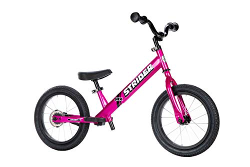 Strider - 14x Sport Balance Bike, Ages 3 to 7 Years - Pink