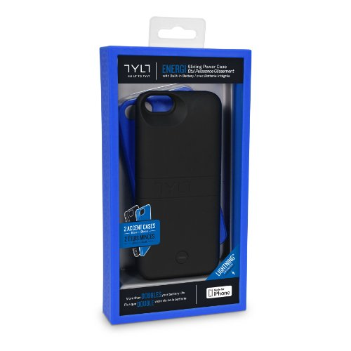 Tylt IP5PCBL2-T Energy Sliding Power Case for iPhone 5/5s-Retail Packaging-Blue