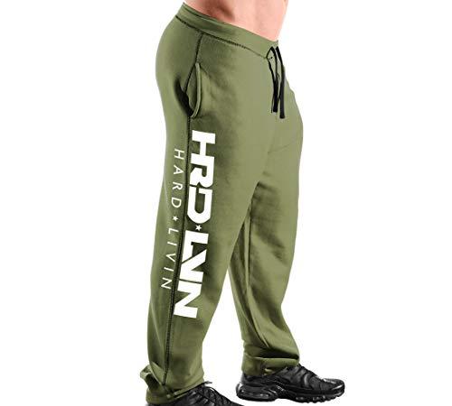 Monsta Clothing Co. Men Workout (ES:HRD-LVN) Athletic Gym Sweatpants (G:MG-A:WT)