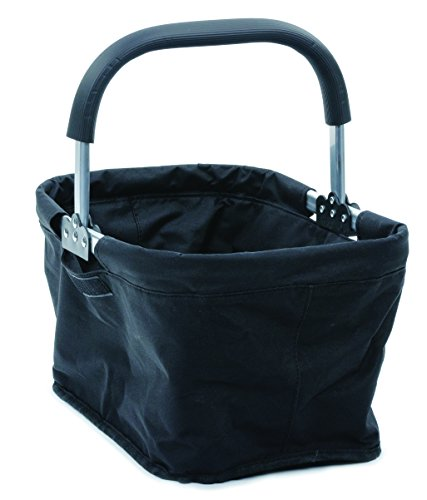 RSVP Fabric Collapsible Market Basket, Black