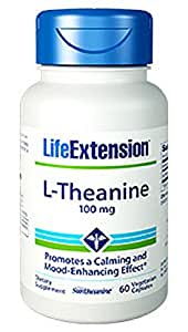Life Extension L-Theanine Vegetarian Capsules, 100 mg, 60 Count