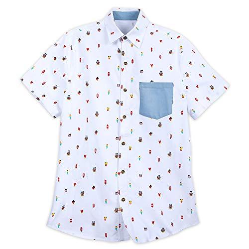 Disney Mickey Mouse Summer Fun Woven Shirt for Men Size L Multi