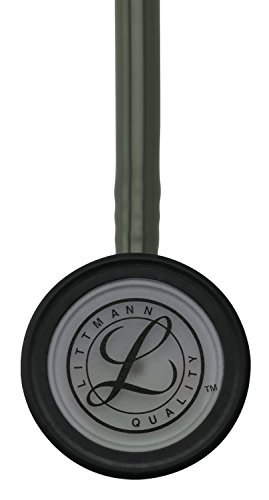 3M Littmann Classic III Monitoring Stethoscope, Smoke-Finish, Dark Olive Green Tube, 27 inch, 5812