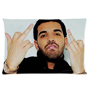 Generic Personalized Canada Rap Singer Drake Music Series Design Sold By Too Amazing Rectangle Pillowcase 24x16 inches (one side)