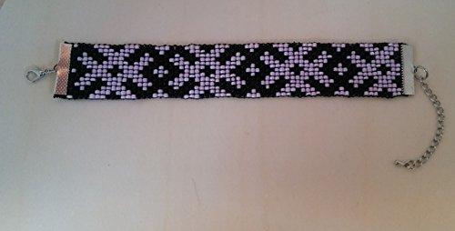Handmade Pink and Black Cross Pattern Beaded (J Renee Wrap)
