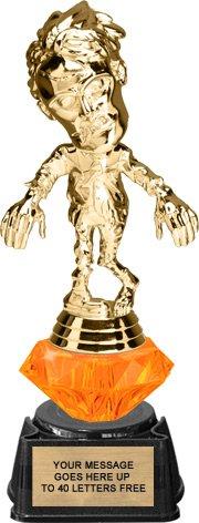 Halloween Zombie Diamond Riser Trophy on Regal Base