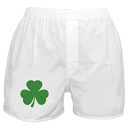 CafePress - Green Shamrock Irish - Novelty Boxer Shorts, Funny Underwear