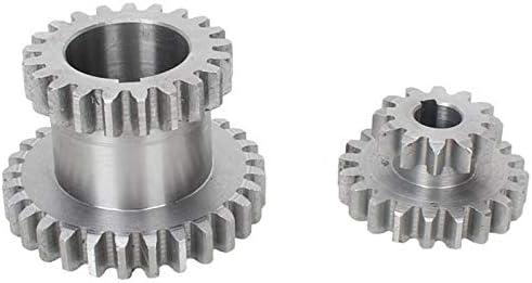 TOOGOO 18 Unids//Set CJ0618 Engranajes de Metal Torno Engranaje M/áQuina de Corte de Metal Herramienta Engranaje