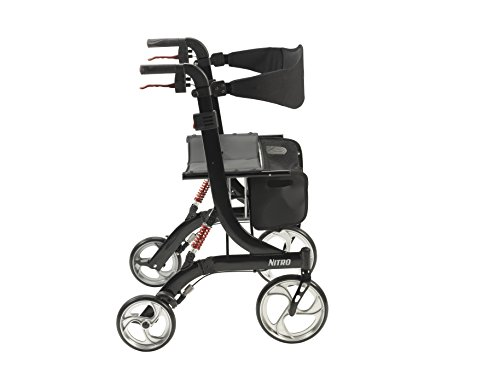 Drive Medical Heavy Duty Nitro Euro Style Walker Rollator, Black by Drive Medical (Image #2)