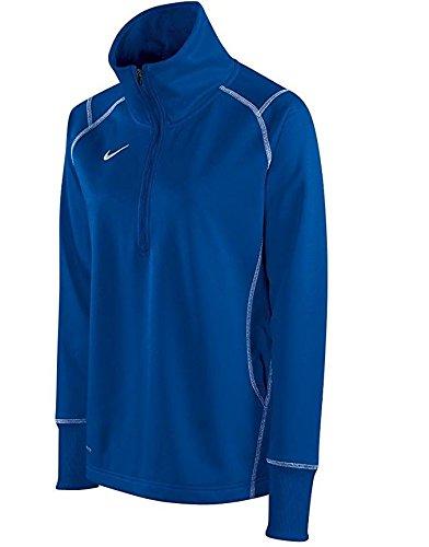 (Nike Women's Quarter Zip Therma-FIT Performance Sweatshirt, Color Options (X-Large, Royal Blue))