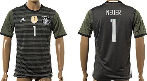 5dd569588 Uefa Euro 2016 Germany 1 Manuel Neuer Soccer Shirt European Championship  Jersey Mens Short Sleeve Away