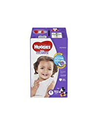 HUGGIES Little Movers Diapers, Size 4, 152 Count (Packaging May Vary) BOBEBE Online Baby Store From New York to Miami and Los Angeles