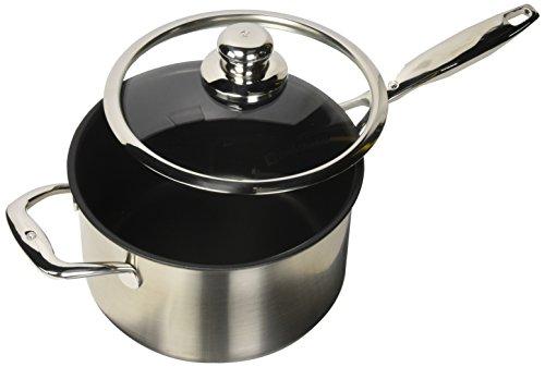 "Swiss Diamond 3.6 quart Sauce Pan with Lid, 8"", Gray"