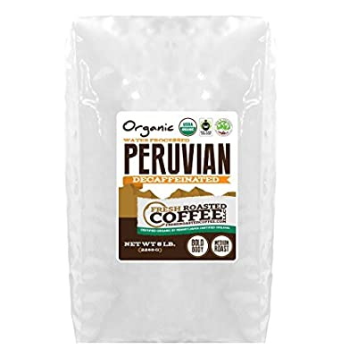 Peruvian Decaf Organic Fair Trade Coffee - SMBC, Whole Bean, Water Processed Decaf Coffee, Fresh Roasted Coffee LLC.