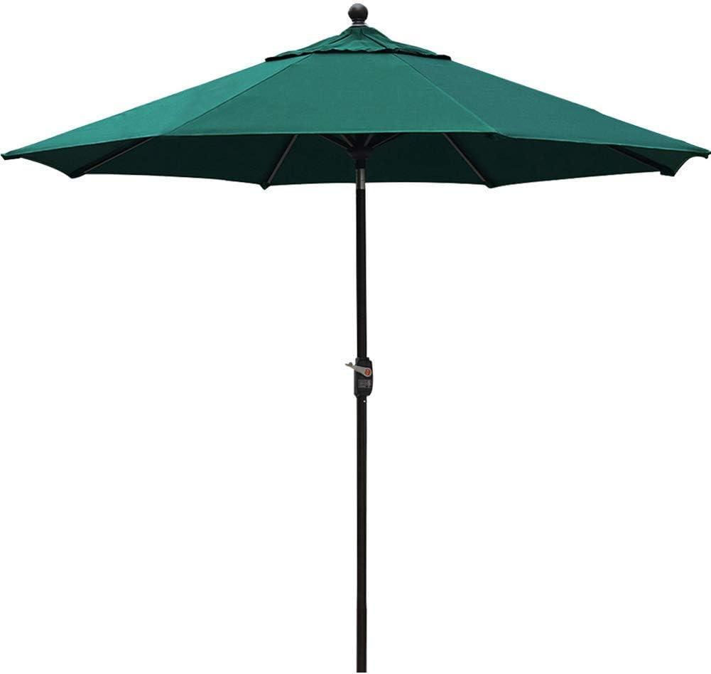 EliteShade Sunbrella 9Ft Market Umbrella Patio Outdoor Table Umbrella with Ventilation and 10 Years Non-Fading Guarantee (Sunbrella Forest Green)