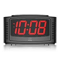DreamSky Little Digital Alarm Clock With Snooze , 1.2 Clear Led Digit Display With Dimmer, 2 Level Alarm Sound Optional , Simple To Operate , Outlet Powered Alarm Clock With Battery Backup