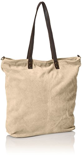 made Cm CTM genuine 33x26x13 in in Fango suede Handbag Grey leather italy Woman's soft PgP01