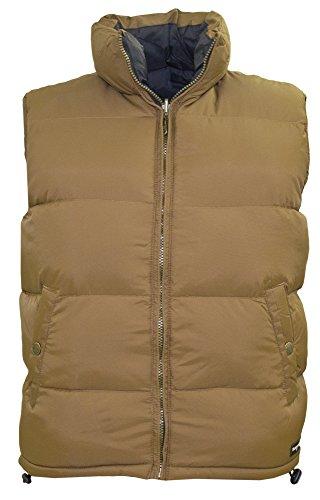 Tempco Men's Reversible Puffer Vest - Size Large - Pecan/Black (Reversible Puffer Vest)