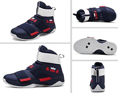 Jiye Scarpe Da Basket Da Uomo Per Sneakers Sportive Velate Da Donna Sportive Blu Rosso