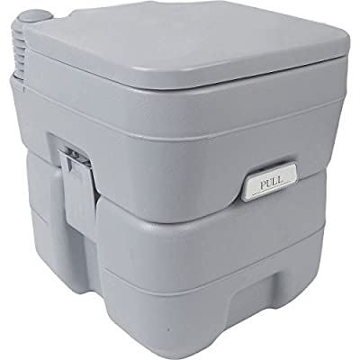 5 Gallon 20l Portable Toilet Flush Travel Camping Outdoor/indoor Potty Commode by by NuMarc