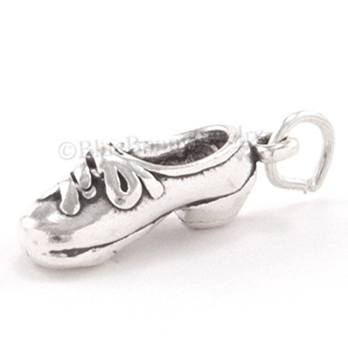 TAP DANCER SHOE Charm Pendant Solid 925 .925 Sterling Silver Dance 3D Jewelry Making Supply Pendant Bracelet DIY Crafting by Wholesale Charms