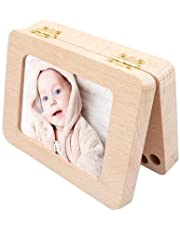 Baby Tooth Keepsake Box, Wooden First Tooth and Curl Memory Container, Deciduous Teeth Milk Teeth Saver Boxes, for Child Kids Newborns