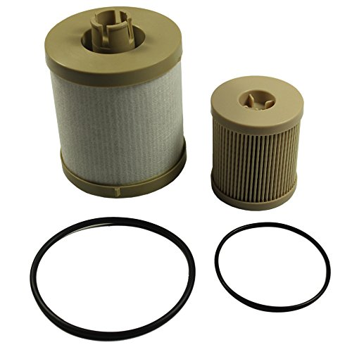 CARMOCAR For Ford 6.0L 2003-2007 4604 Diesel Fuel Filter Pack includes lower lifter pump filter and upper fuel bowl filter FD4616 Ford F250 F350 F450 F550 F650 EXCURSION FD-4604 - Filter Oil Fuel Pump