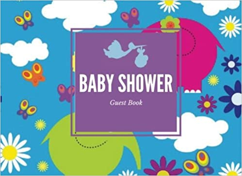 Baby Shower Guest Book Elephants Message Book Memory Journal
