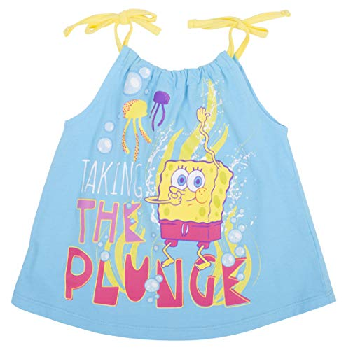 Spongebob Squarepants Girls Dress for Toddlers Take The Plunge Toddler Set 2T Blue]()