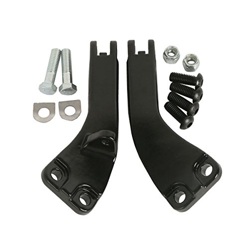 XFMT Black Passenger Foot Peg Support Kit For Harley Dyna Super Glide Street Bob 2016-2018