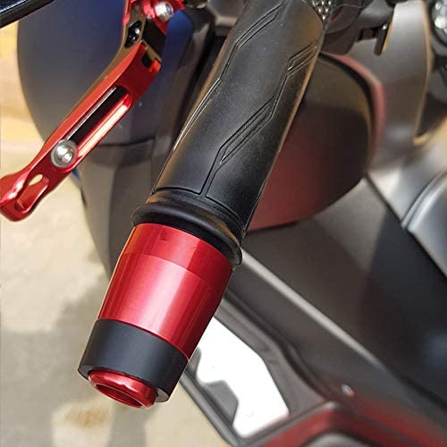 poign/ées de Guidon de Moto CNC Embouts de Guidon Plug Anti Accessoires QOHFLD Poignet Moto pour Yamaha Xmax 300 2017 2018 2019 2020