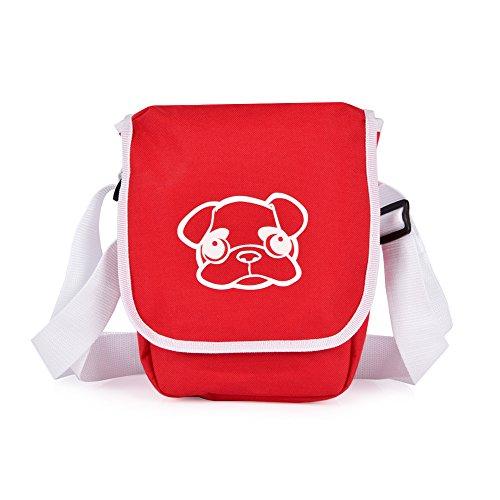 Mops Me Mini Retro bag Rosso/Bianco